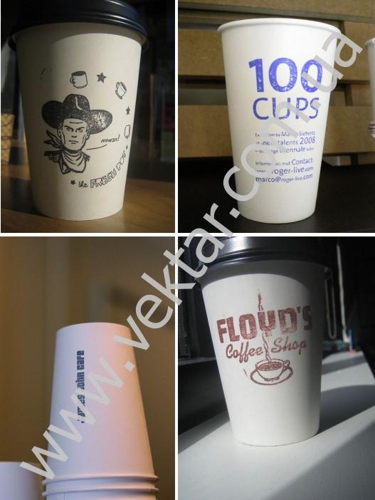 ПечатьСтакановрф однослойные бумажные стаканы